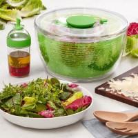 KARIS Set essoreuse + vinaigrier - Transparent et vert