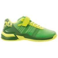 KEMPA Chaussures de handball Attack Contender - Enfant garçon - Vert et jaune