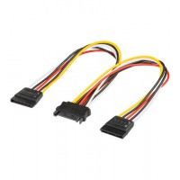 cable PC interne prise SATA M vers prise 2 SATA F