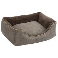 KERBL Corbeille Samuel - 50 x 40 x 15 cm - Argent et gris - Pour chien