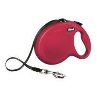 KERBL Laisse-sangle Flexi NewClassic L - Longueur : 8 m - Poids max : 50 kg - Rouge - Pour chien