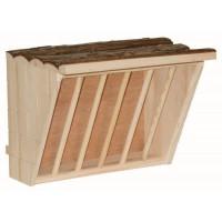 KERBL Râtelier a foin Nature XL - 28 x 20,5 x 22 cm - Pour rongeur