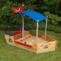 KIDKRAFT - Bac a sable en bois Bateau de pirate