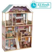 KIDKRAFT - Maison de poupées en bois Charlotte avec EZ Kraft Assembly?