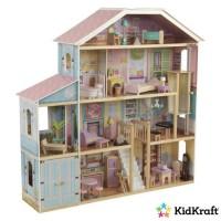 KidKraft - Maison de poupées en bois Grand View - 65954 - 34 accessoires inclus - pour poupées 30 cm - assemblage EZkraft