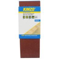 KINZO Bande abrasiv bois - G40 - 3 pieces