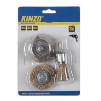 KINZO Brosse métallique - 3 pieces 30 / 48 / 53 mm