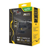 Kit Play & Charge Steelplay pour manette Xbox One avec 2 batteries + Câble