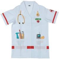 KLEIN - Blouse docteur en tissu avec motifs imprimés