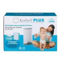 KORBELL Pack de 3 Recharges 26L Plus
