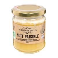 LA BARONNIE DES LYS Miel et huile essentielle bio Nuit paisible - 250 g