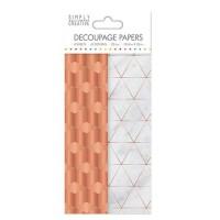 LA FOURMI Papier Découpage - Cuivre Industriel - 18,8x35cm x 4fl. (2x2 modeles)