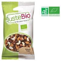 LA MAISON DES BISTROS NATURE Mélange tonus bio - Noix de cajou, de raisins secs, noisettes et d'amandes - 100 g