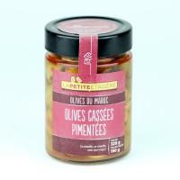 LA PETITE ETAGERE Olives cassées pimentées - 190 g