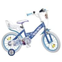 """LA REINE DES NEIGES Vélo Enfant fille - 16"""" - 5/8 ans - Bleu"""