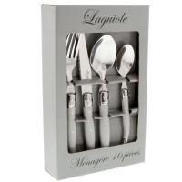 LAGUIOLE Ménagere 16 pieces manches gris uni
