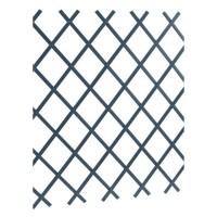 LAMS Treillage PVC lisse - 3 x 1 m - Gris