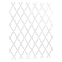 LAMS Treillage PVC strié - 3 x 1 m - Blanc