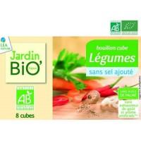 LEA NATURE Bouillon cube Légumes - Sans sel sans gluten sans lactose - Biologique - 8 x 9 g - 72 g