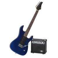 LEGEND Pack Guitare Type Ibanez Bleu