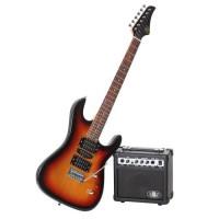 LEGEND Pack Guitare Type Ibanez Sunburst