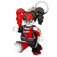 LEGO Batman Movie Porte-clés Harley Quinn - Visage lumineux - Lumiere LED blanc - Tete mobile - 9,53 X 4,06 X 14,92 cm