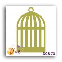 LES D'COS DE TOGA Die Cage - Doré