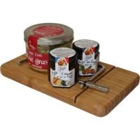 LES RECETTES CUITES AU CHAUDRON ET JEAN CIRON - Corbeille planche de foie gras 250g