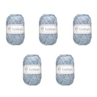 LETTLOPI Lot de 5 Pelotes de laine - Bleu clair
