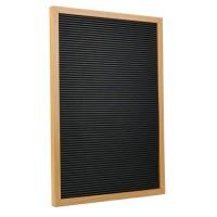 Lettre board rétro - 150 lettres - Cadre Mdf - 30 x 45 cm - Marron et Bois