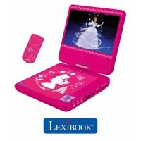 LEXIBOOK - DISNEY PRINCESSES - Lecteur DVD portable pour Enfant avec port USB
