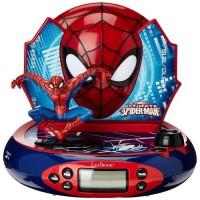 LEXIBOOK - SPIDER-MAN - Radio Réveil Enfant avec Projection de l'Heure