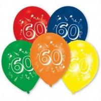 Lot de 10 Ballons - Latex - Chiffre 60
