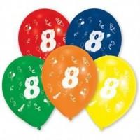 Lot de 10 Ballons - Latex - Chiffre 8