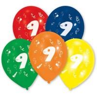 Lot de 10 Ballons - Latex - Chiffre 9