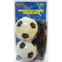 Lot de 2 ballons de foot lumineux - 12V