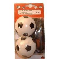 Lot de 2 ballons de foot lumineux - 24V
