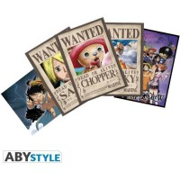 Lot de 5 Cartes postales One Piece - Set 3 : Chopp Wanted &Co - 14,8 x 10,5 cm