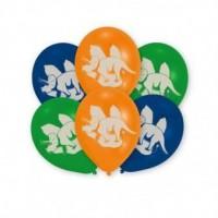 Lot de 6 ballons - Latex - Préhistoire - 27,5 cm