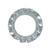 Lot de 60 rondelles dentellées en acier zingué - Ø 6 / 8 / 10 mm