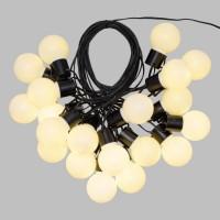 LOTTI Guirlande lumineuse d'été LED - 10 m - Ø50 x H60 mm - Blanc chaud