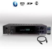 LTCA ATM8000BT Amplificateur hifi 5.2 avec fonction bluetooth et karaoke 4 x 75w + 3 x 20w - Noir