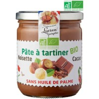 LUCIEN GEORGELIN Pâte a Tartiner Noisettes et Cacao - Bio - 400 g