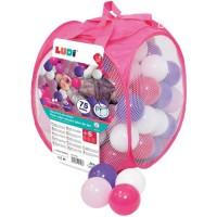 LUDI - Sac de 75 balles multicolores souples en plastique anti-écrasement. A partir de 6 mois