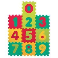 LUDI ? Tapis de sol épais et jouet Éducatif ? 1053 - puzzle géant aux motifs Chiffres ? des 10 mois ? lot de 10 dalles en mousse