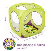 LUDI Aire de jeu cube a balles Papillons + 85 balles offertes