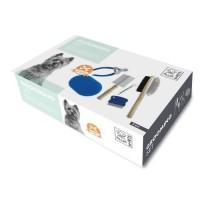M PETS Set 6 Pieces de toilettage Grooming - Pour chien - Noir et bleu