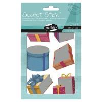 MAILDOR Pochette de gommettes Secret Stick Cadeaux - 2 planches - Adhésives - Sans carton