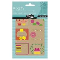MAILDOR Pochette étiquettes décoratives Biscuits - 4 planches de 2 visuels - Assortis
