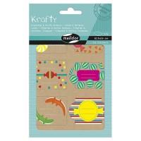 MAILDOR Pochette étiquettes décoratives Bonbons - 4 planches de 2 visuels - Assortis